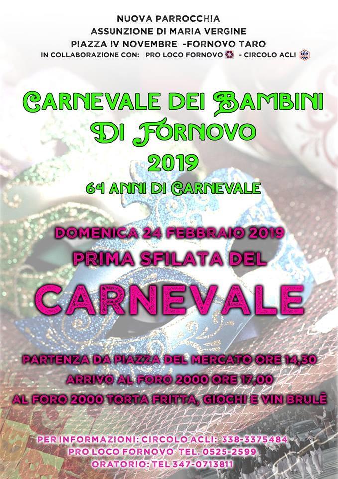 Carnevale dei bambini a Fornovo