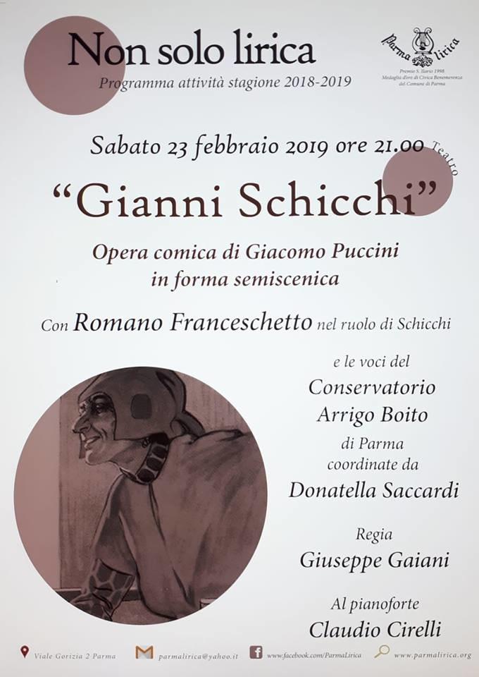 """""""Non solo lirica"""": Gianni Schicchi"""