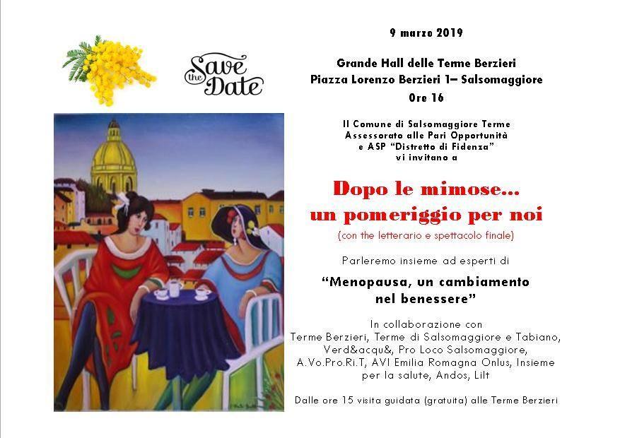 Dopo le mimose... un pomeriggio per noiDalla parte delle donne, non solo l'8 marzo