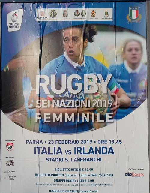 Rugby femminile: sei nazioni 2019 Italia vs Irlanda