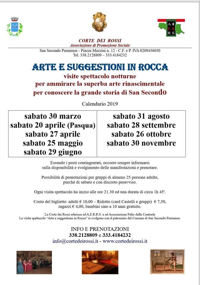 Arte e sugestione in Rocca, visite spettacolo alla corte dei Rossi