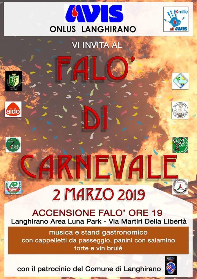 Falò di Carnevale a Langhirano