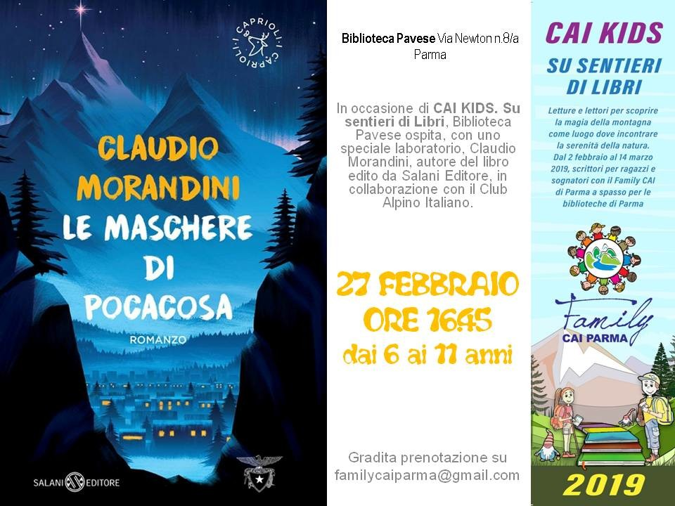 "Claudio Morandini a ""Cai Kids. Su sentieri di libri."""
