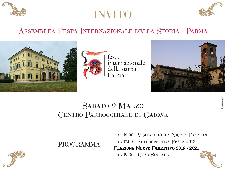 Giornata per gli amici di Festa Internazionale della Storia-Parma