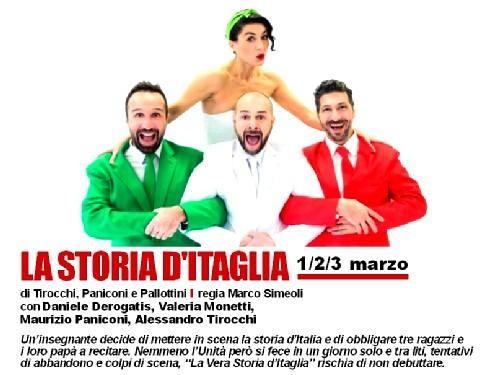 Promozione spettacolo LA STORIA D'ITAGLIA al TEATRO PEZZANI