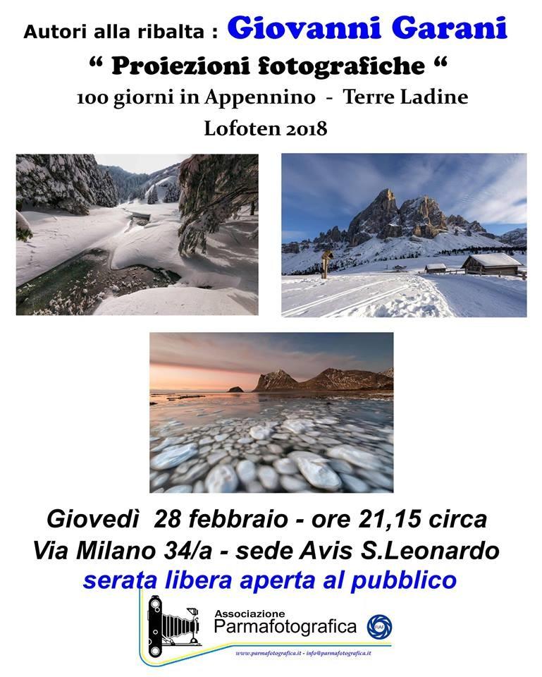 I giovedì di Parma Fotografica: Giovanni Garani