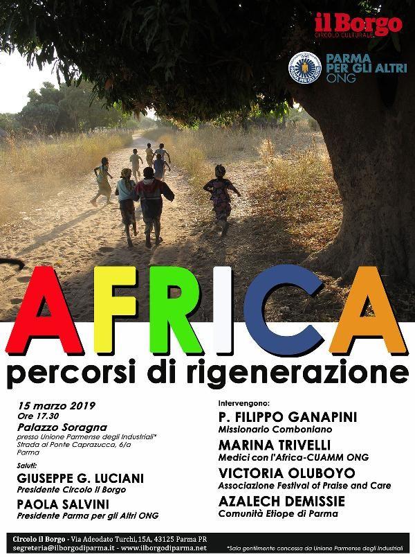 """""""AFRICA percorsi di rigenerazione"""" – esperienze a confronto,"""