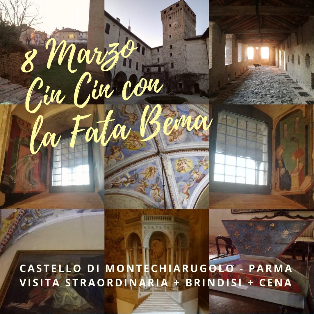 Speciale 8 MARZO al Castello di Montechiarugolo visita serale straordinaria con brindisi !