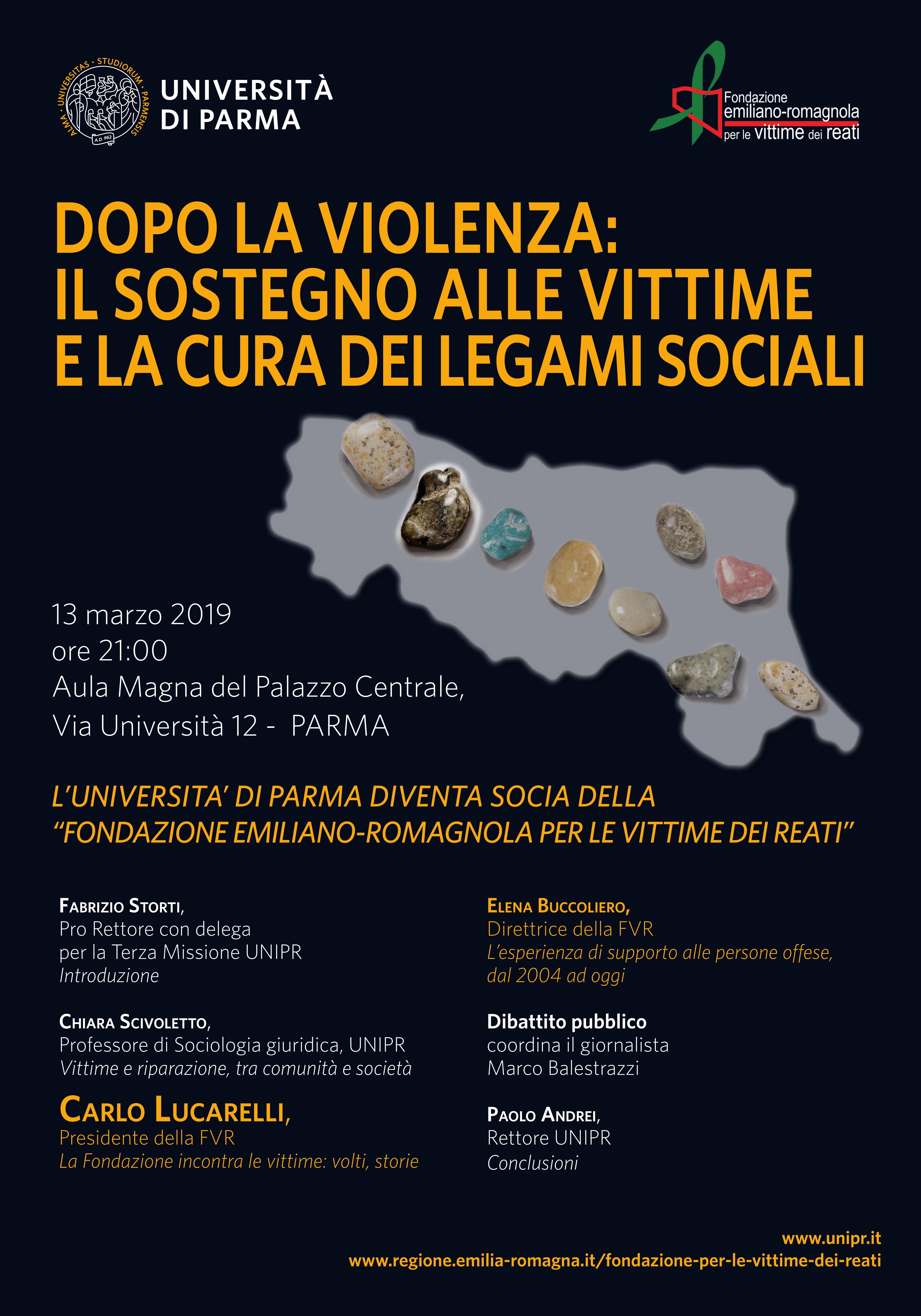"""""""DOPO LA VIOLENZA"""", INCONTRO CON CARLO LUCARELLI, PRESIDENTE DELLA FONDAZIONE VITTIME DEI REATI"""