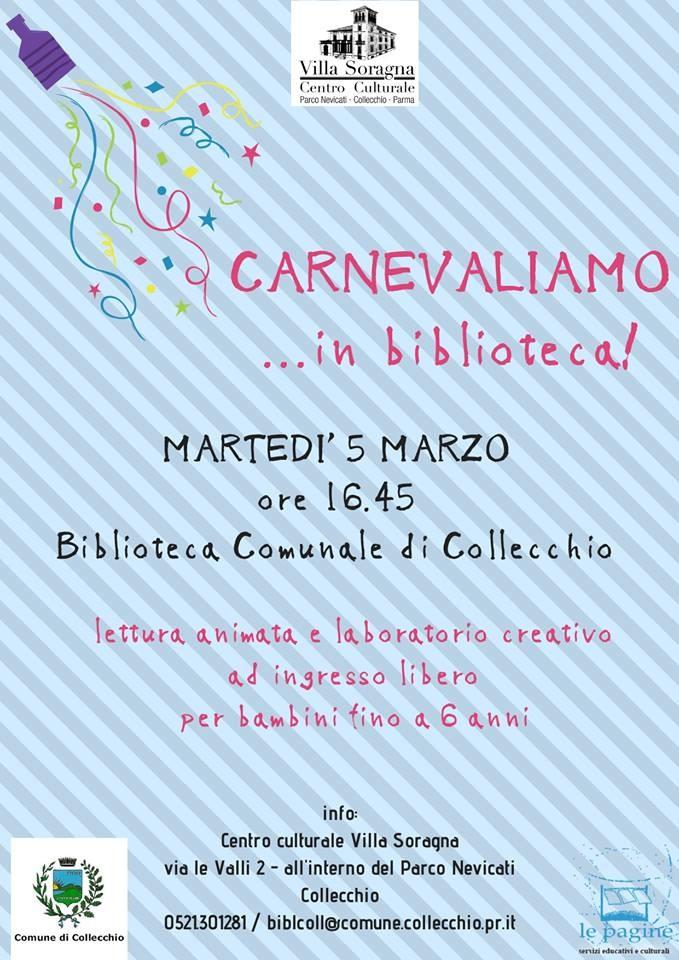 Carnevaliamo in biblioteca a Collecchio