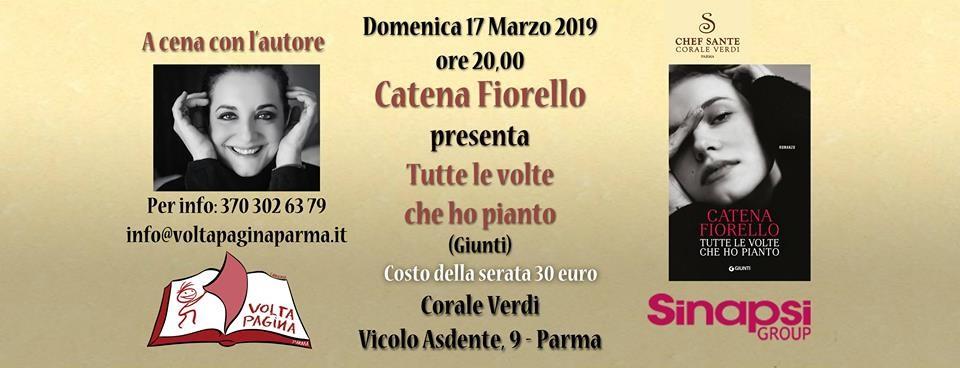 A cena con Catena Fiorello AL RISTORANTE CORALE VERDI