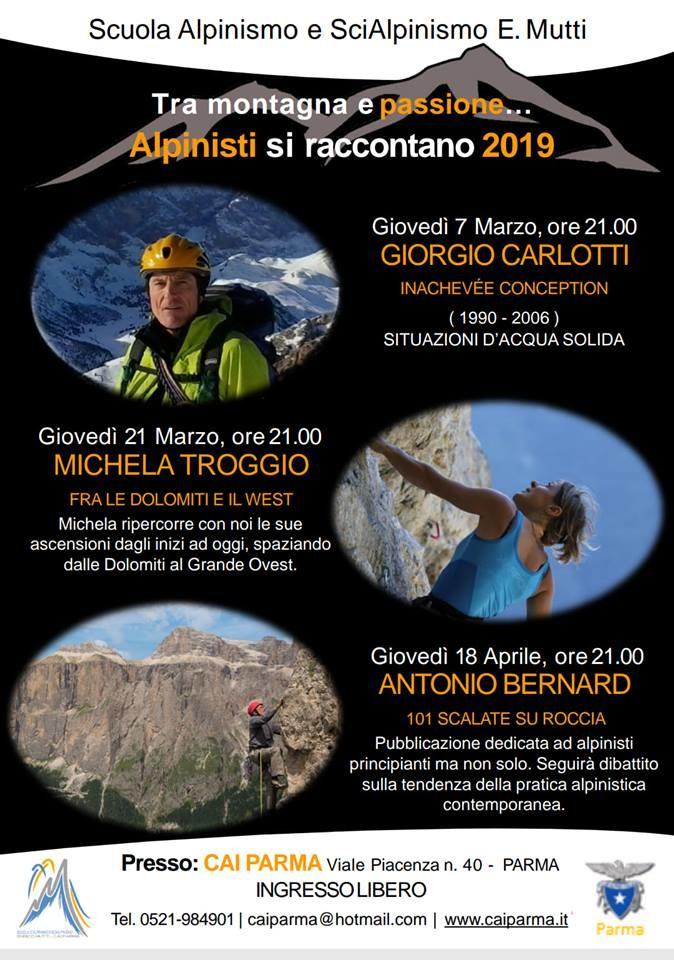 Alpinisti Si Raccontano Ed. 2019 - Organizzato da CAI Sezione di Parma