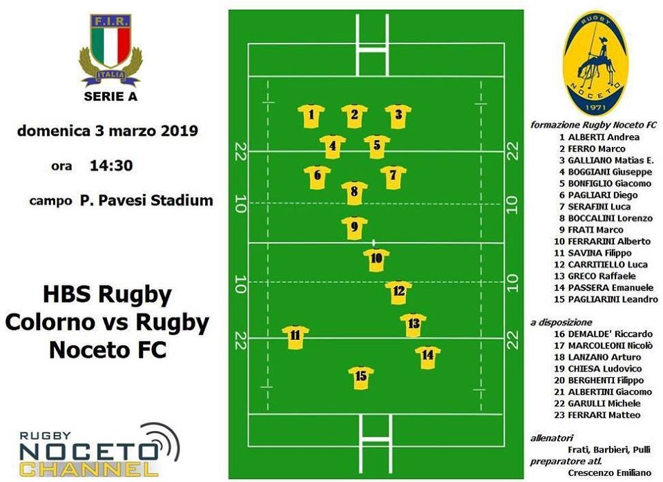 Rugby Colorno vs Rugby Noceto