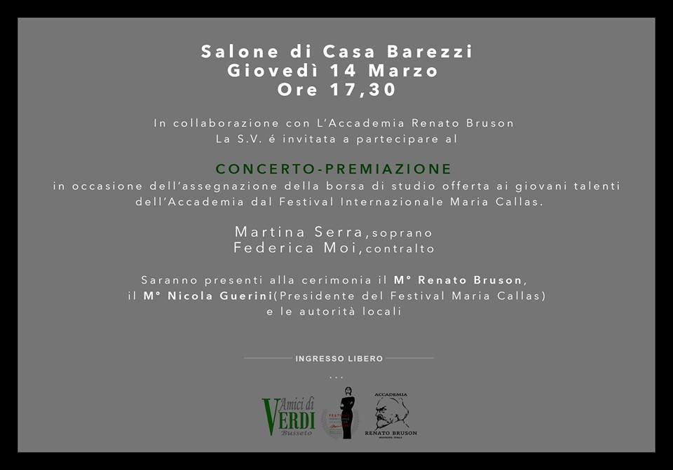 Concerto premiazione al Museo  Casa Barezzi