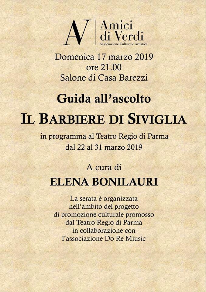 """Guida all'ascolto """"il barbiere di Siviglia"""" al Museo  Casa Barezzi"""