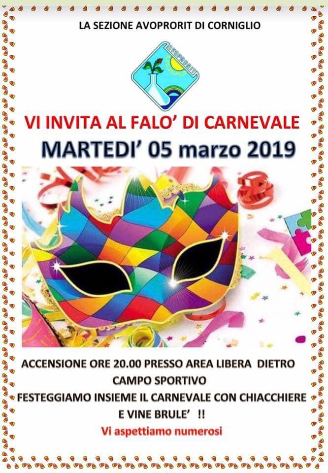 Falò di Carnevale a Corniglio