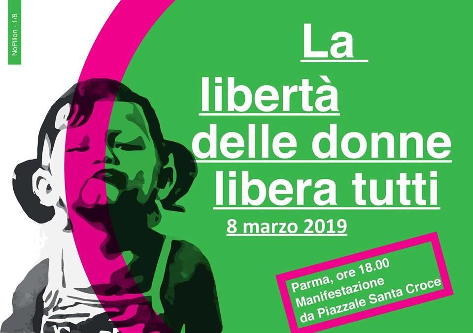 La libertà delle donne libera tutti, manifestazione 8 marzo 2019