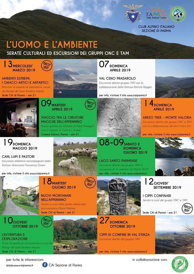 Uomo ed ambiente,  serate culturali ed escursioni