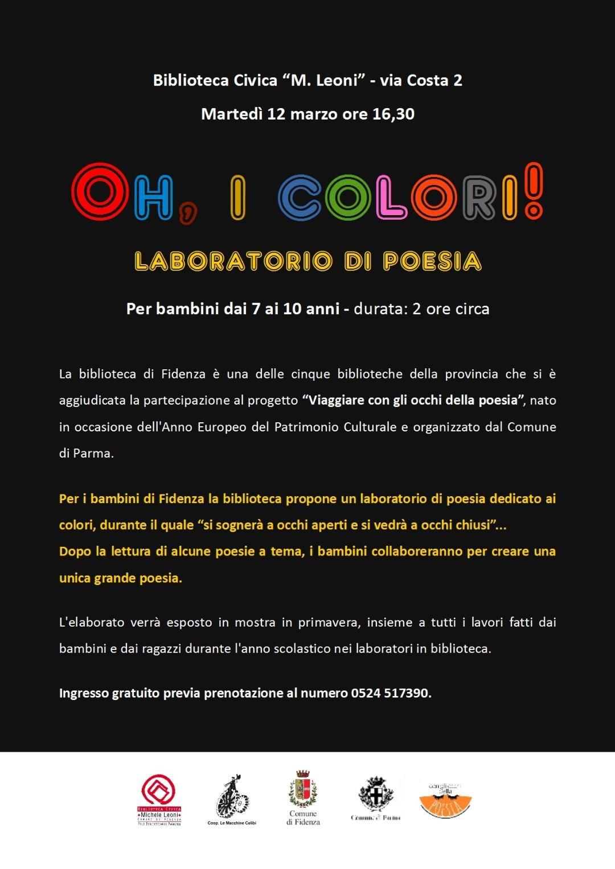 Laboratorio di poesia per bambini in biblioteca a Fidenza