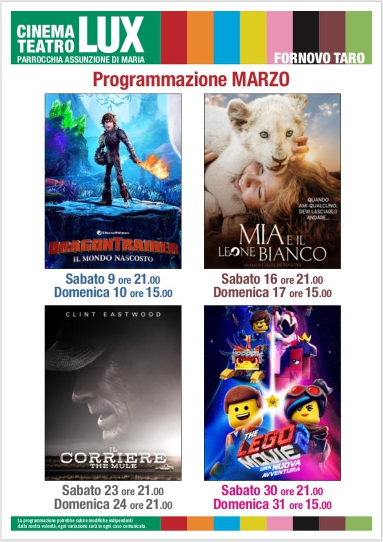 La programmazione di Marzo 2019 al Cinema Lux