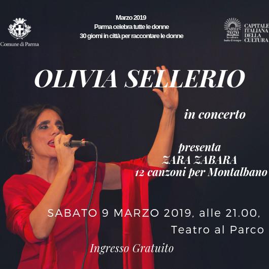 OLIVIA SELLERIO in concerto presenta ZARA ZABARA - 12 canzoni per Montalbano al Teatro al Parco