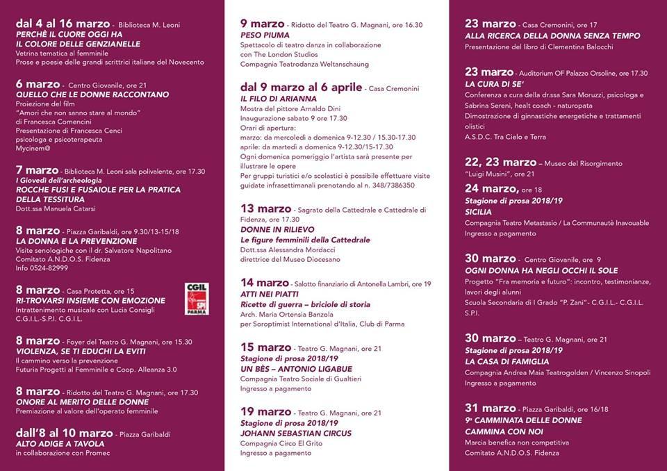 Festa della donna a Fidenza