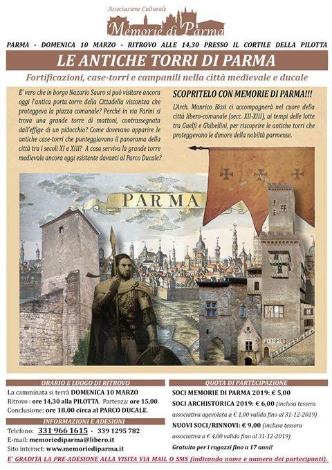 Le antiche torri di Parma, visita guidata