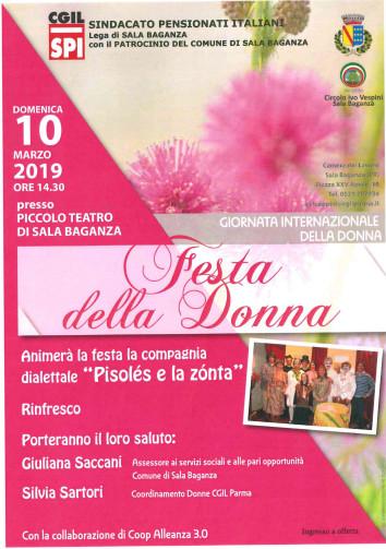 Festa della Donna in allegria a Sala Baganza