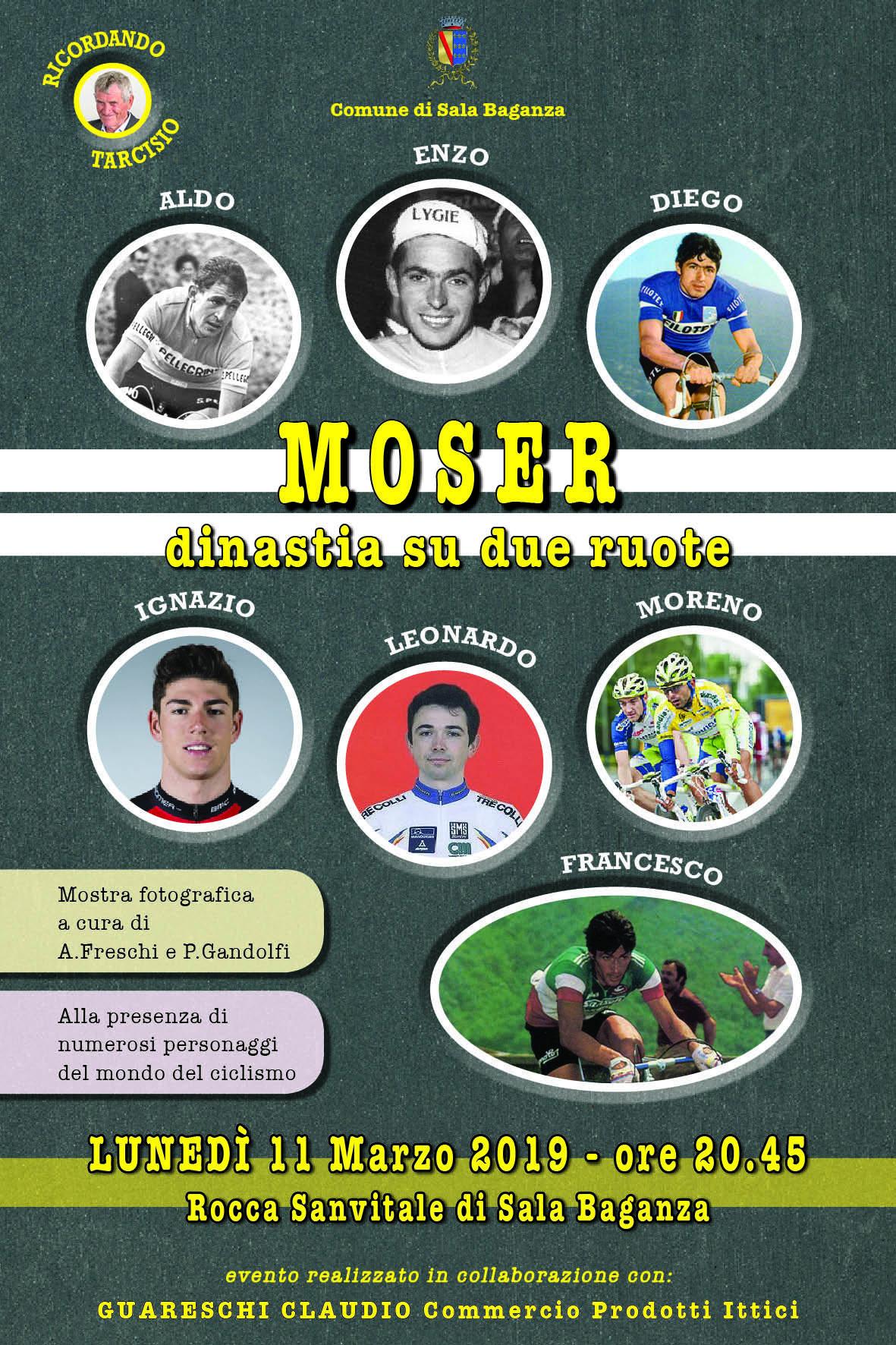 Ciclismo: Sala Baganza celebra i Moser insieme a Francesco
