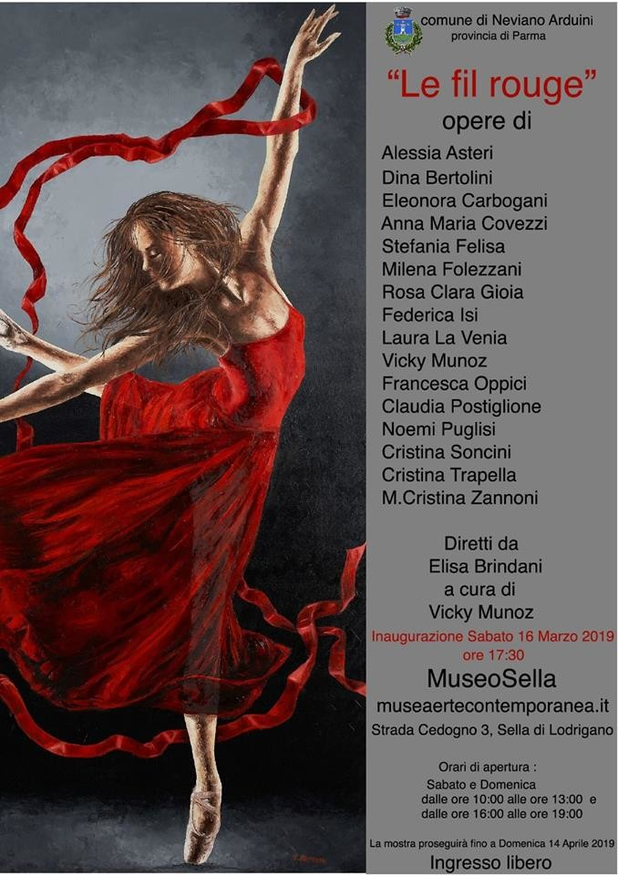 """""""LE FIL ROUGE"""" mostra al  Museo d'Arte Contemporanea di Sella"""