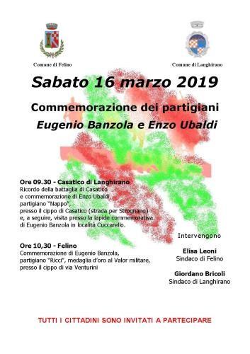 Commemorazione dei partigiani Ubaldi e Banzola