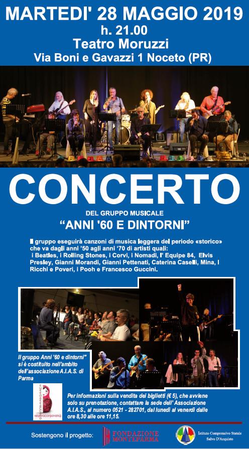"""Concerto del gruppo  """"Anni '60 e dintorni al Teatro Moruzzi"""