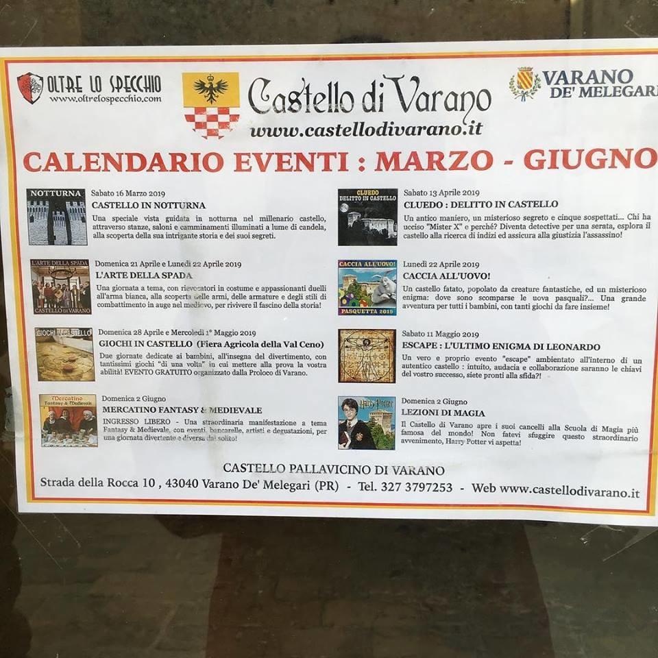 Calendario eventi al Castello di Varano