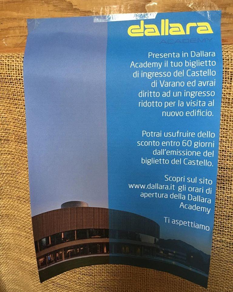 Ingresso ridotto alla Dallara Academy se hai il biglietto del Castello di Varano