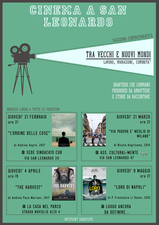 "CINEMA A SAN LEONARDO ""Via Padova è meglio di Milano"""