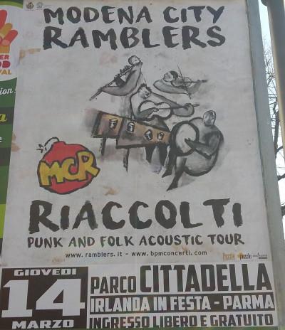 Modena City Ramblers in concerto al parco della Cittadella