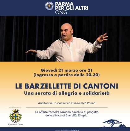 PARMA PER GLI ALTRI PRESENTA     LE BARZELLETTE DI CANTONI