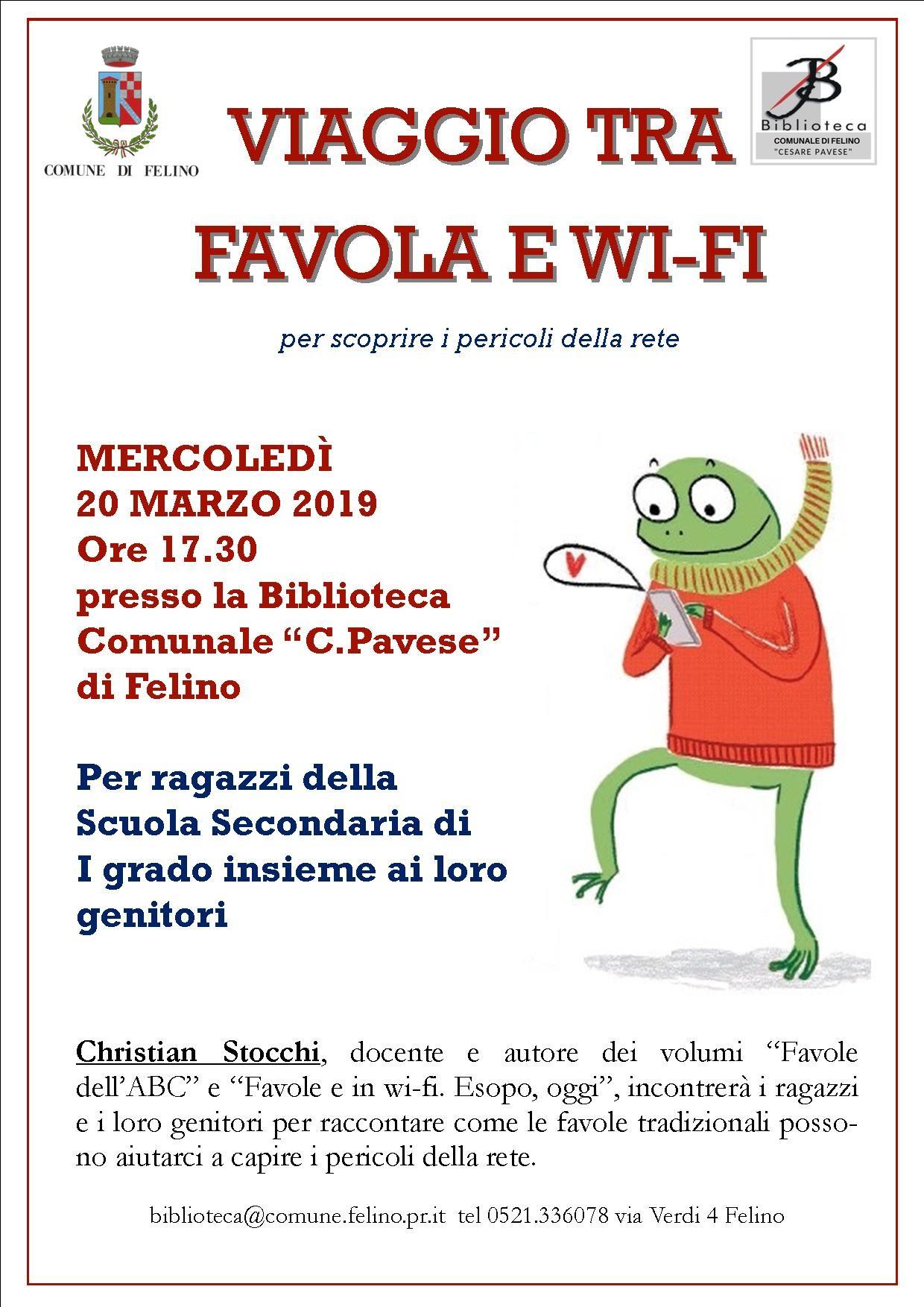 VIAGGIO TRA FAVOLA E WIFI,  incontro con l'autore Christian Stocchi