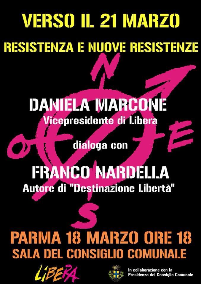 Daniela Marcone vicepresidenza Libera dialoga con Franco Nardella