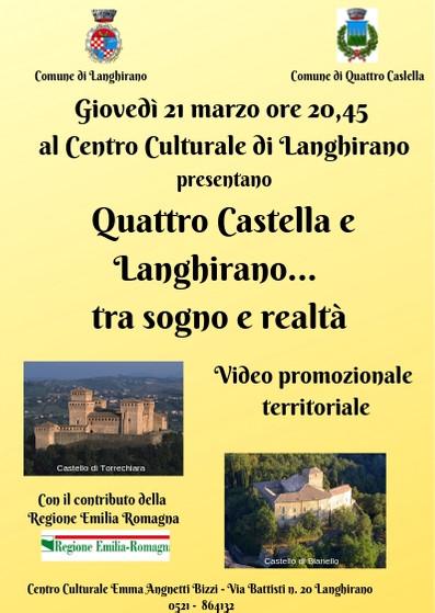"""""""Quattro Castella e Langhirano...tra sogno e realtà"""", video promozionale dei  territori"""