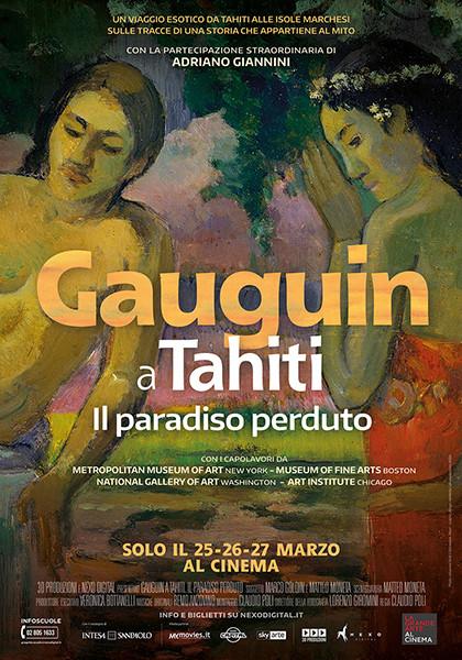 """La grande arte al cinema"":  GAUGUIN A TAHITI-IL PARADISO PERDUTO al Cinema Astra Parma"