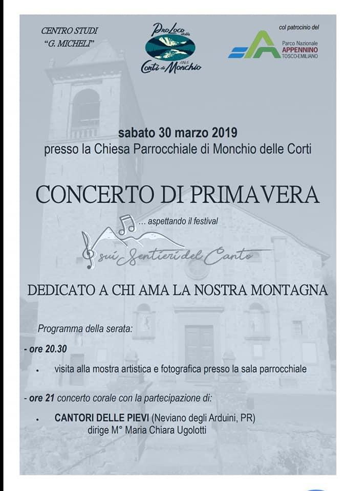 Concerto di primavera a Monchio dedicato alla montagna