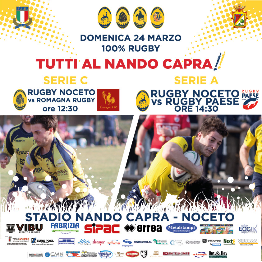SERIE A Rugby Noceto F.C.vs Rugby Paese