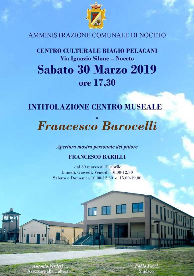 Intitolazione del centro museale a Francesco Barocelli