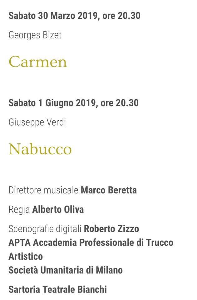 Le ultime due opere della Stagione Lirica 2018/19 del Teatro Giuseppe Verdi di Busseto.
