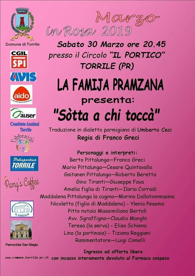 """La Famija Pramzana in """"Sotta a chi toca"""""""