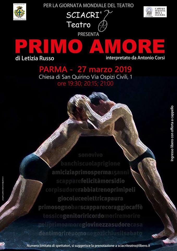"""""""Lo Primo amore"""" di Letizia Russo spettacolo teatrale presso l'ex Oratorio di San Quirino"""