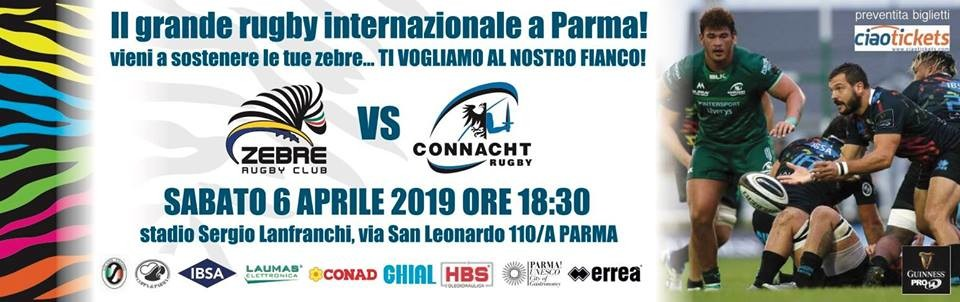 Guinness PRO14 2018/19 Rd 19: Zebre Rugby vs Connacht