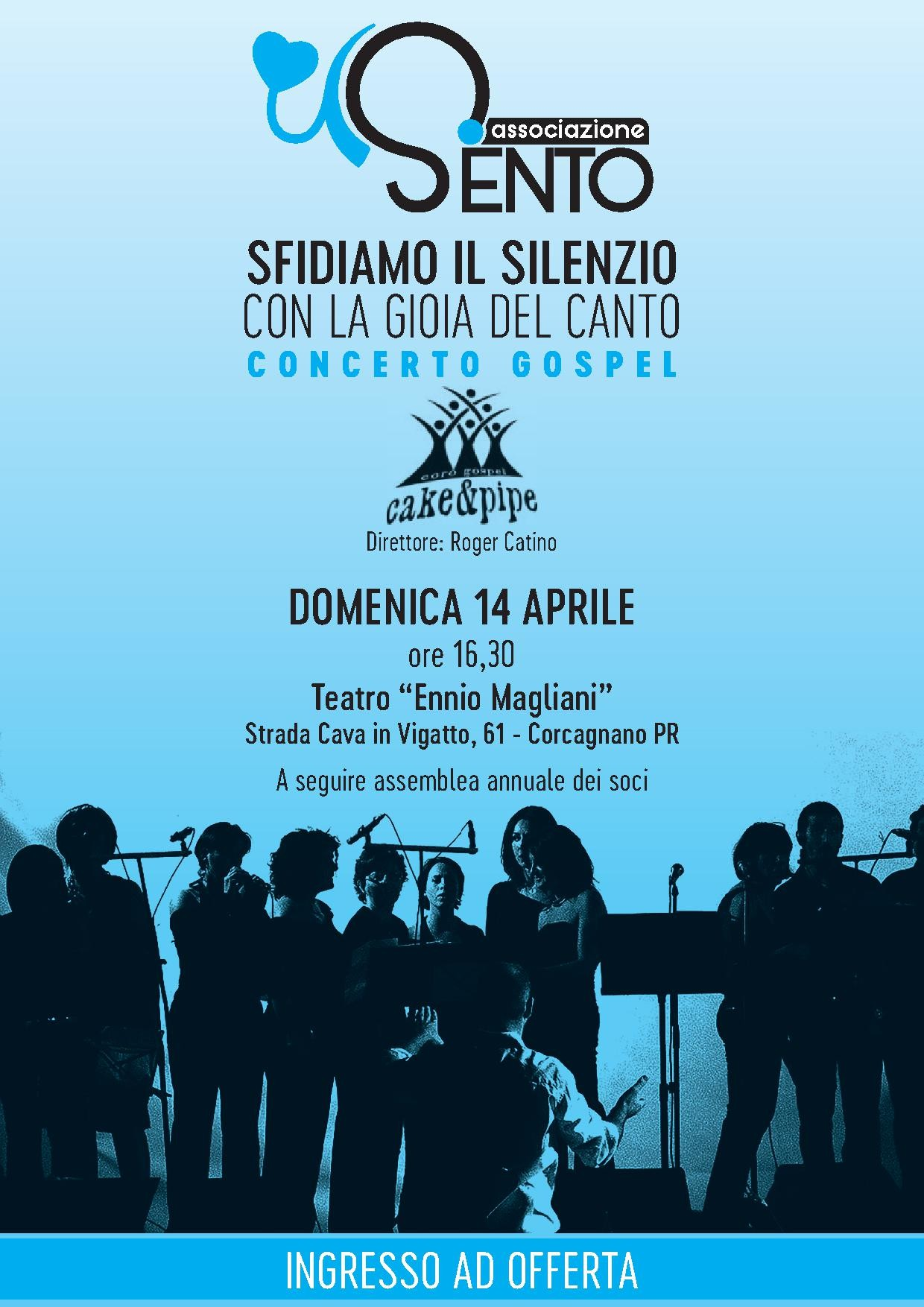 Concerto gospel dei  CAKE E PIPE al Teatro Ennio Magliani