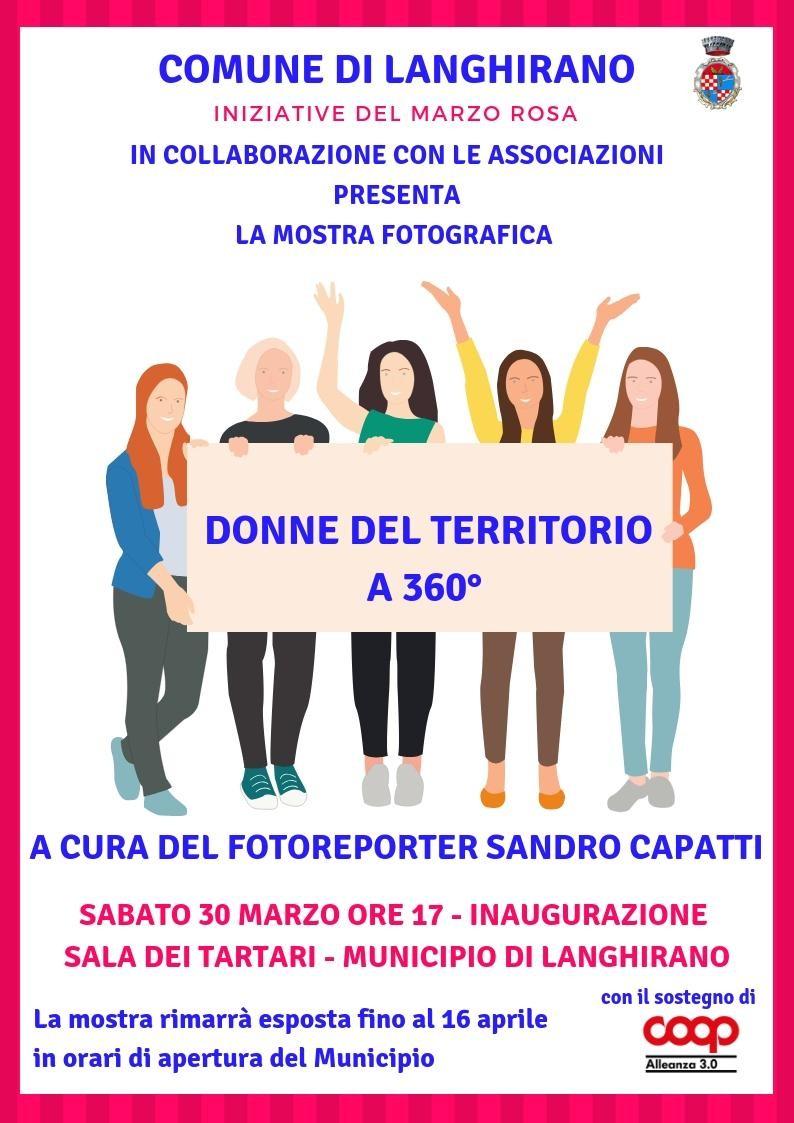 Mostra fotografica DONNE DEL TERRITORIO A 360° a cura di Sandro Capatti